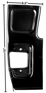 DII  1955-59 Front Lower Door Pillar  CHEVY TRUCK