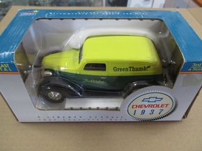 "LIB 15026GT  1937 CHEVY PANEL ""GREEN THUMB""LOCKING COIN BANK"