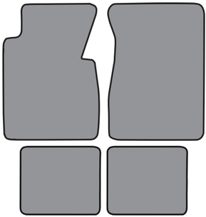 Auto Custom Carpet-9173-57 1957 CHEVY BEL-AIR (4-PCS) FLOOR MATS-SET