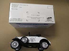 "LIB-1517  66TH Anniversary  ""ROUTE 66"" Roadster  BANK  1:25"