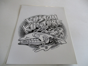 Kustom Kulture Black and White Print