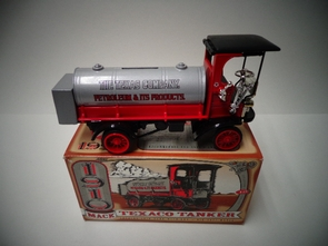 ERT-F122  1910 Texaco Mack Tanker Locking Coin Bank