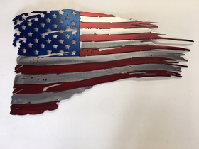 "M2W FL1 American ""Tattered"" Flag Sign"