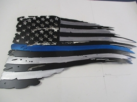 "M2W-FL-4    ""THIN BLUE LINE"" Flag Sign"
