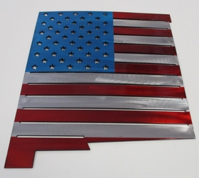 M2W-FL-6    New Mexico Shaped American Flag Sign