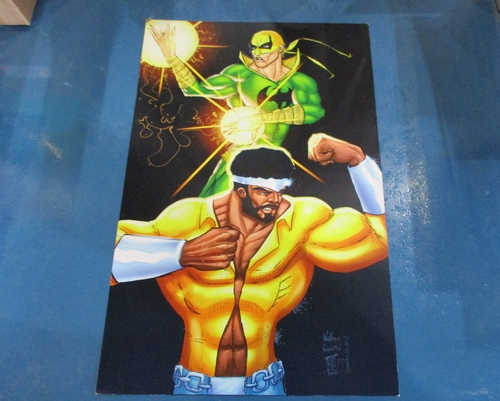 Fan Art  Print of Iron Fist and Luke Cage by WAS Illustrations