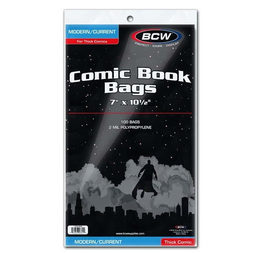 """BCW-CUR -THICK   Current Bags Thick 7"""" x10.5"""""""